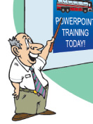 """Almost all our training is done with PowerPoint"""